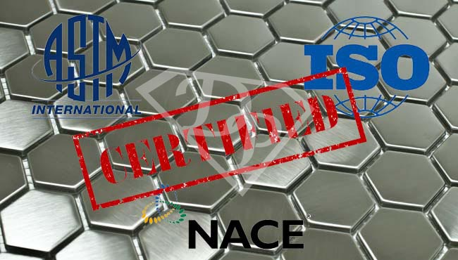 Stainless Steel Passivation Testing ASTM ISO NACE